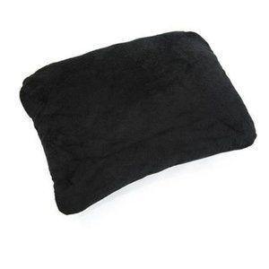 Black Rectangular Memory Foam Travel Pillow